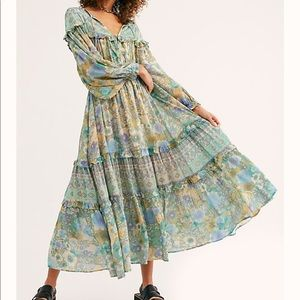 Spell & Gypsy amethyst gown turquoise XS FP NWT